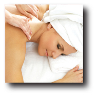 female having therapeutic massage at spa